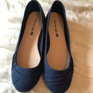 American Eagle Blue Fabric Flats